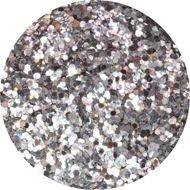 Glitter platinum silver
