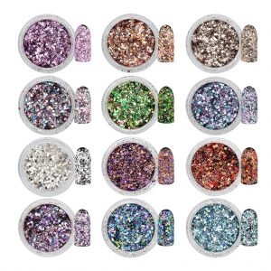 Mixed Metal Flakes 12 Colours