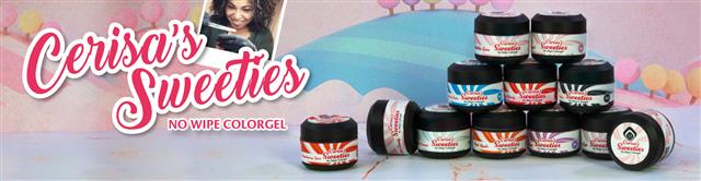 Cerisa Sweeties No Wipe Colour Gel